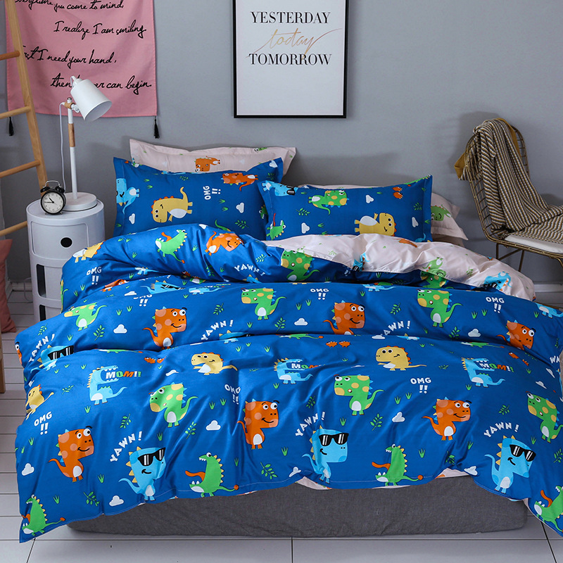 WEILIANG Thị trường đồ bộ 2018 hot aloe vera cotton bốn mảnh giường bán buôn nhà sản xuất tùy chỉnh