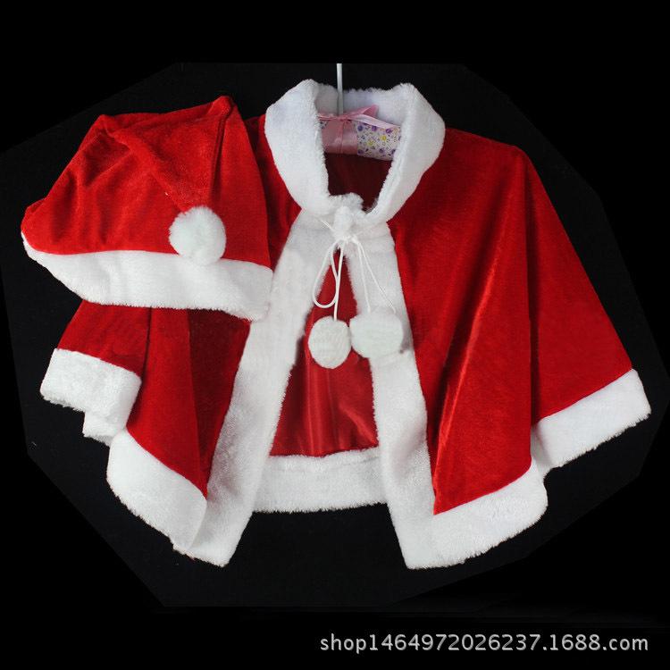 Áo choàng trẻ em Trang phục Giáng sinh dành cho người lớn Trang phục ông già Noel Trang phục Giáng s