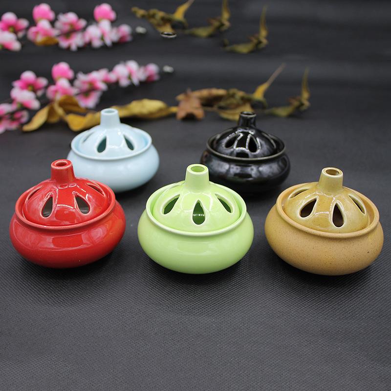 TANGDIAN Lư hương Bao bì cầm tay an toàn bằng gốm đốt nhang Mini nhang trà trang trí vui nhộn Đa chứ