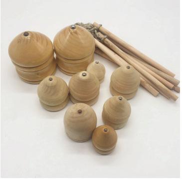JBBR Bông vụ Đồ chơi hoài cổ cho người lớn Con quay bằng gỗ Đồ chơi thể dục truyền thống 70 sau 80 k