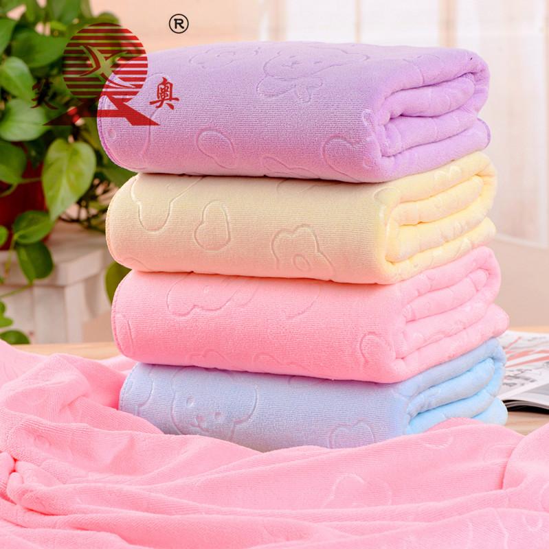 XIAOAO Khăn tắm Nhà máy trực tiếp Nano microfiber 70 * 140 khăn tắm nhanh chóng khăn khô dập nổi khă