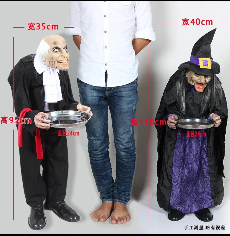 Đồ Trang Trí Bữa tiệc Halloween - mô hình phù Thủy .