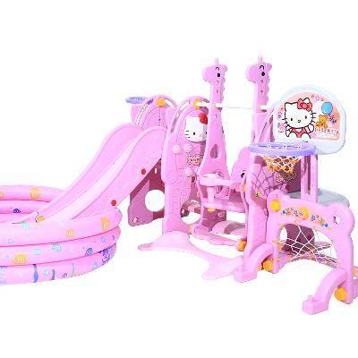Bộ Đồ chơi cầu Trượt và xích đu có thể tháo rời cho bé .