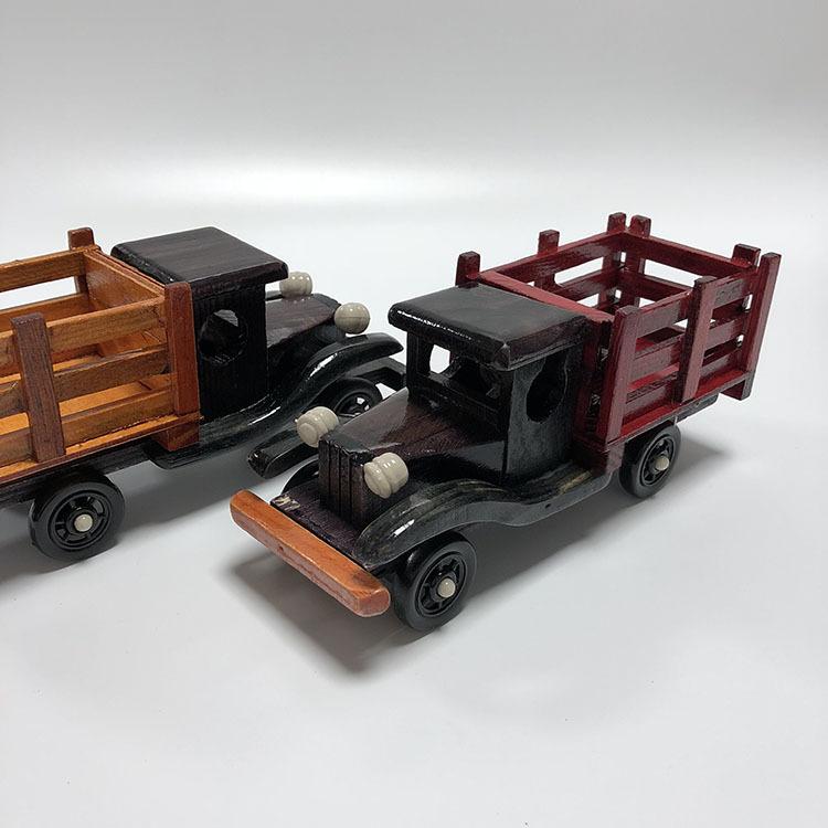Đồ trang trí bằng gỗ [Bán buôn hàng thủ công] Mô phỏng trang trí nội thất xe tải bằng gỗ mô hình 8 i