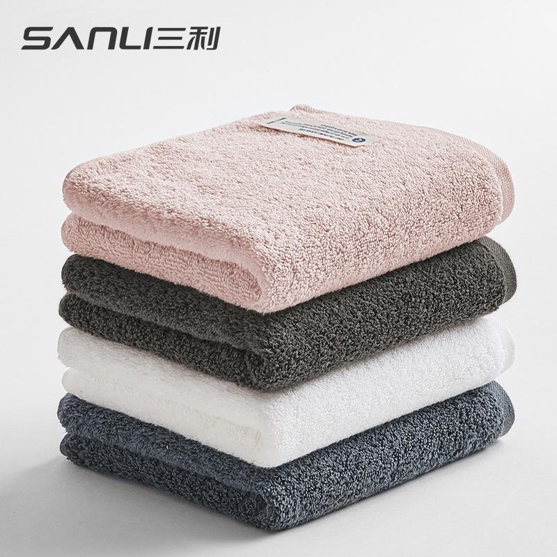 SANLI Khăn lông Sanli khăn bông khăn mới dài chủ yếu khăn bông đồng bằng khăn mặt rửa mặt nhóm quà t
