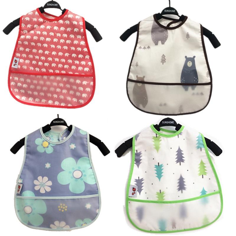 YZZH Áo khoác Nhà sản xuất bán buôn áo chống thấm cho trẻ em cotton yếm trẻ em ăn túi chống ăn mặc t