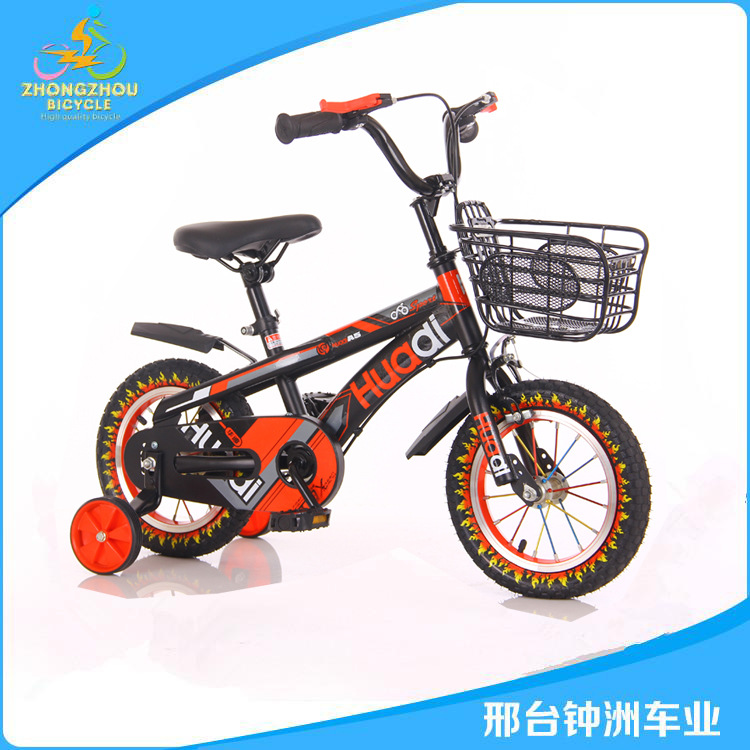 Xe đạp trẻ em có bánh phụ kiểu dáng thời trang Huadi