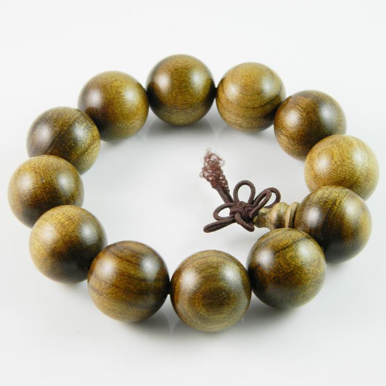 SHANGYUAN Chuỗi phật Nhà sản xuất Thượng Nguyên cung cấp gỗ mun vàng Nanmu hạt chuỗi hạt vòng tay hạ