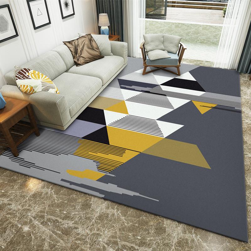 Thảm lót trải sàn kiểu dáng phong cách hiện đại .