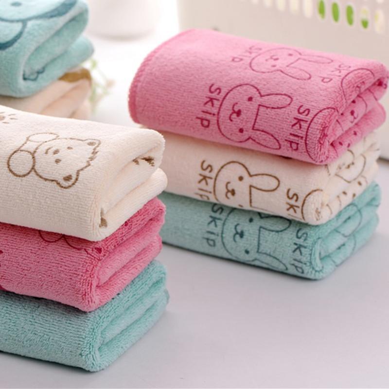 Khăn lông Khăn đặc biệt xuyên biên giới 25 * 50 cm Khăn microfiber trẻ em thấm hút mạnh khăn polyest