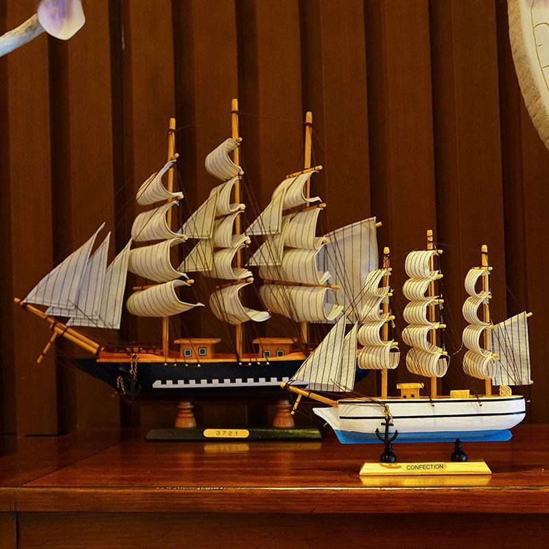 CAPRICE Đồ trang trí bằng gỗ Nhà máy bán buôn Cánh buồm mịn bằng gỗ mô hình nhà sáng tạo vi cảnh tra