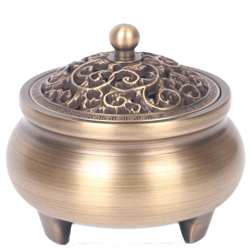 Lư hương Đồng hương lư hương đồng nguyên nhang đường về nhà hương liệu ba chân lò hương cổ lư hương