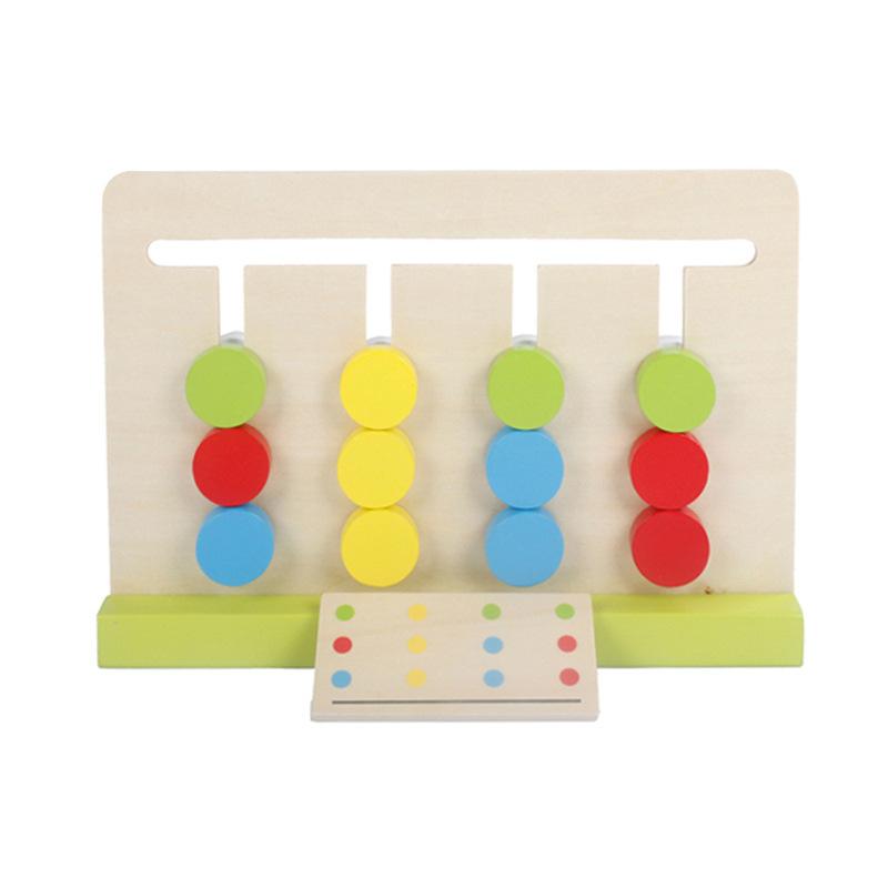 Đồ chơi giúp trẻ Thông minh : Bộ đồ chơi giúp bé nhận thức về màu sắc bằng gỗ  .