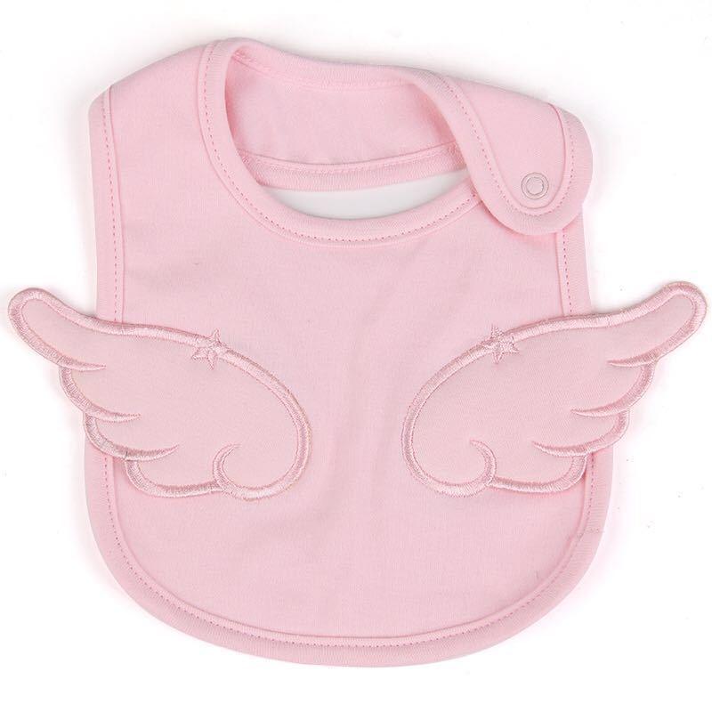 Khăn yếm Baby cotton thêu thiên thần dễ thương cho bé .