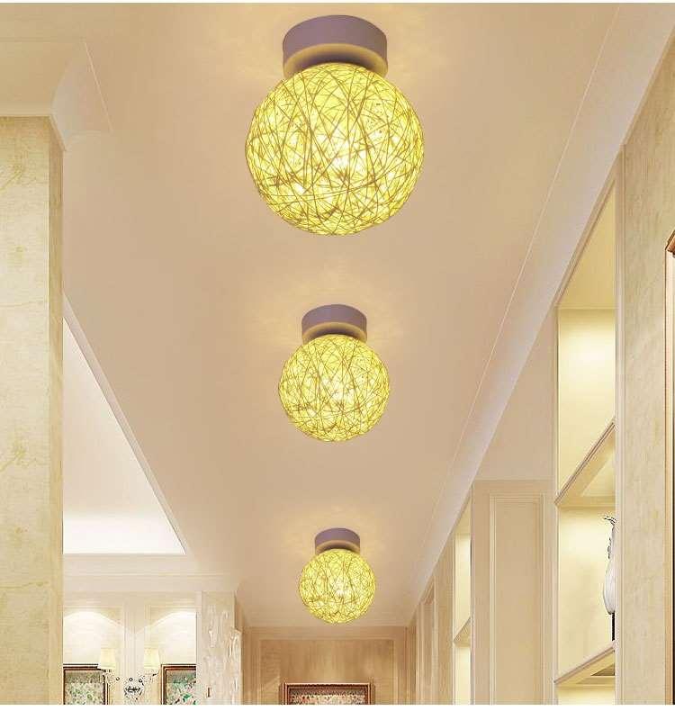 Đèn âm trần bộ Phim hoạt hình đèn hành lang chung hành lang phụ kiện đèn Suite hút đèn hướng dẫn kiể
