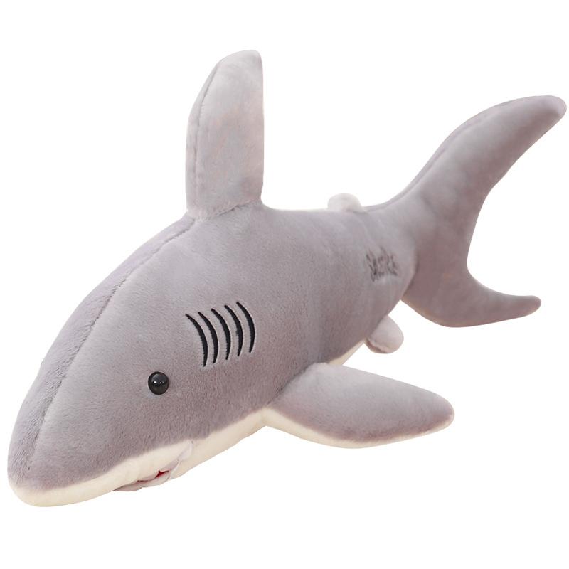 Búp bê vải Cartoon Underwater World Big Shark Plush Toy Doll Doll Boy Boy Ragdoll Quà tặng sinh nhật