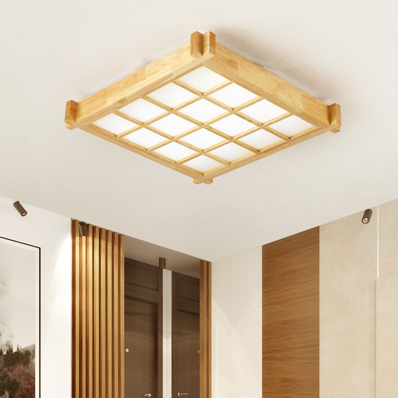 Đèn âm trần bộ - đơn giản là chất lượng gỗ thật đấy LED hút đèn hướng dẫn cách Nhật Bản Bắc Âu đèn p