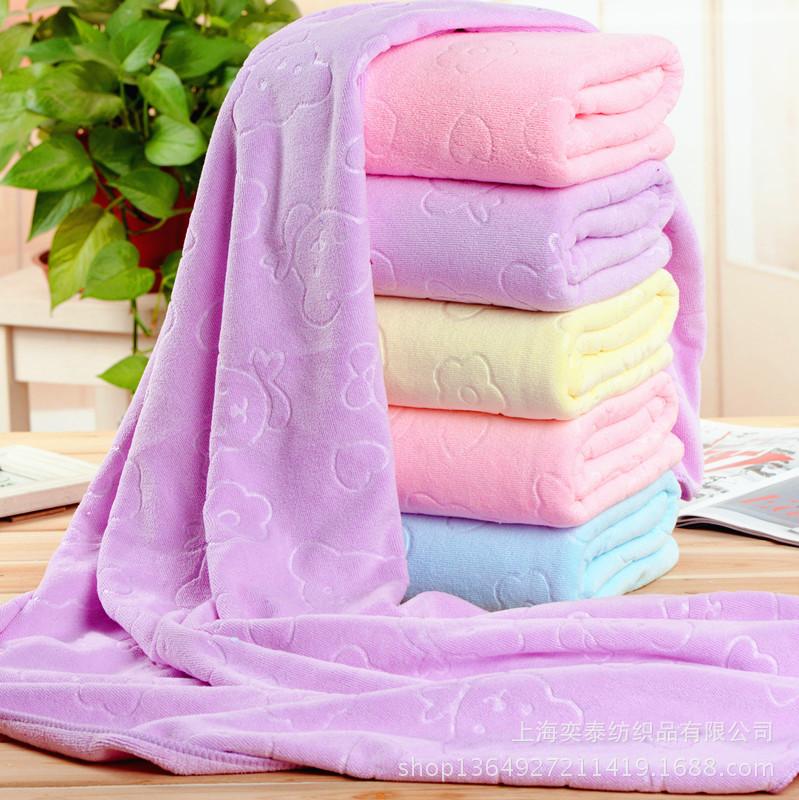 XIJAIJAI Khăn tắm Bán buôn ba mảnh microfiber dập nổi 70 * 140 khăn thấm nước ba giây nhanh chóng kh
