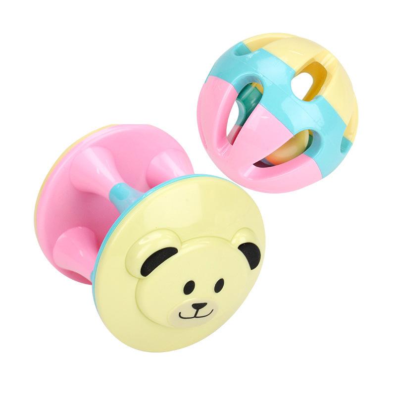 Đồ chơi cho trẻ sơ sinh : Bộ đồ chơi bằng nhựa cầm tay cho bé .