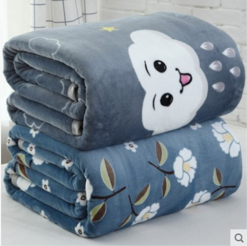 JIAJIALE Drap giường Chăn Bán buôn Quà tặng Falais Chăn Dày Coral Flannel Điều hòa nhiệt độ Chăn ấm