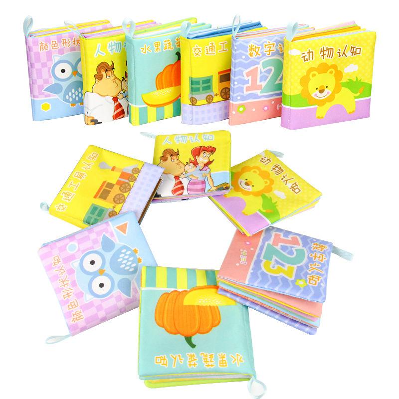 KENASI sách vải [Phiên chữa cháy] Học sớm Đồ chơi trẻ em Nước mắt Không thể giặt Có thể giặt Đồ vải