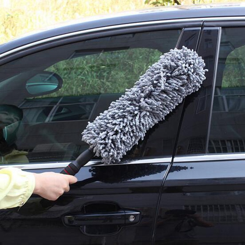 bàn chải sáp Car Microfiber có thể thu vào Wax Tow Car Dust Removal Car Wax Xử lý Round Tow Wax Wax