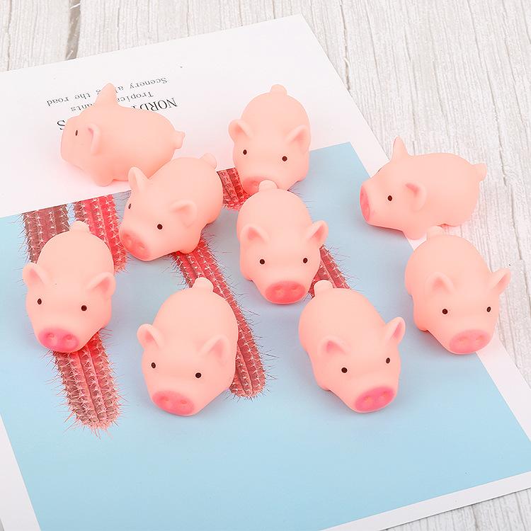 Đồ chơi sáng tạo Phim hoạt hình sáng tạo heo con dễ thương dễ thương màu hồng vent piglet pinch được