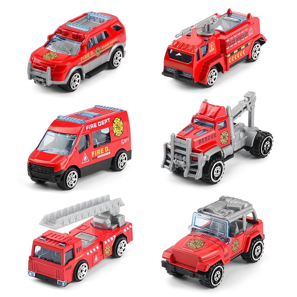 BANGLI Mô hình xe Hợp kim quán tính xe mini lửa kết hợp xe kỹ thuật xe hợp kim xe mô hình đồ chơi bá