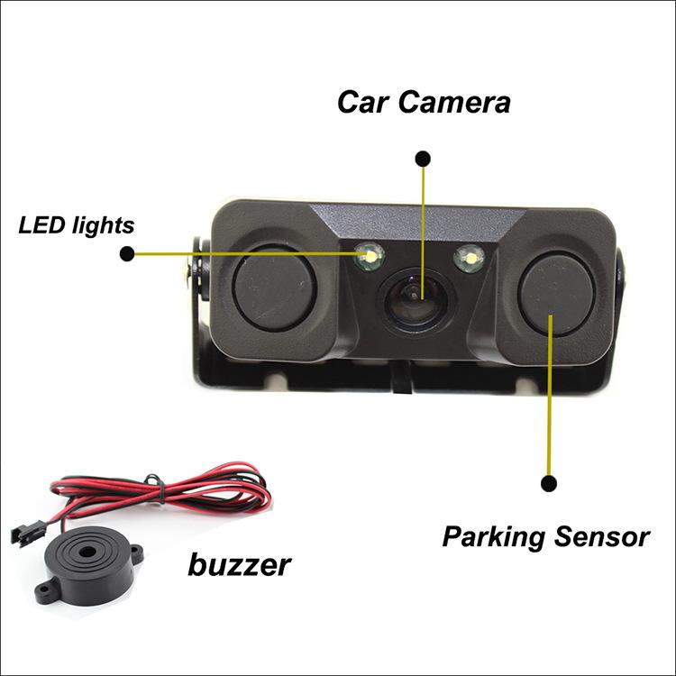 Máy Radar có camera cảm biến đảo ngược ,hệ thống báo động khi đỗ xe Ôtô.