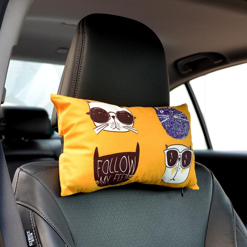 Gối tựa đầu in hoạt hình Thư giãn dành cho ghế ô tô, xe hơi .