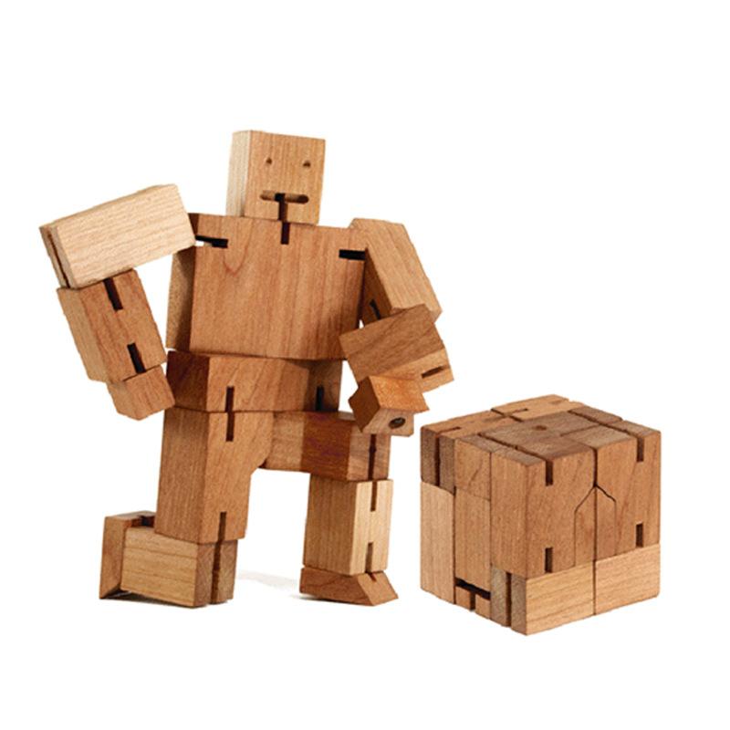 JIUZHU Đồ chơi bằng gỗ Chín con lợn gỗ màu trẻ em bằng gỗ khối robot đồ chơi giáo dục