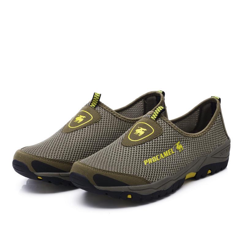 Giày thể thao dạng Lưới Đi Bộ chống trượt dành cho Nam  .
