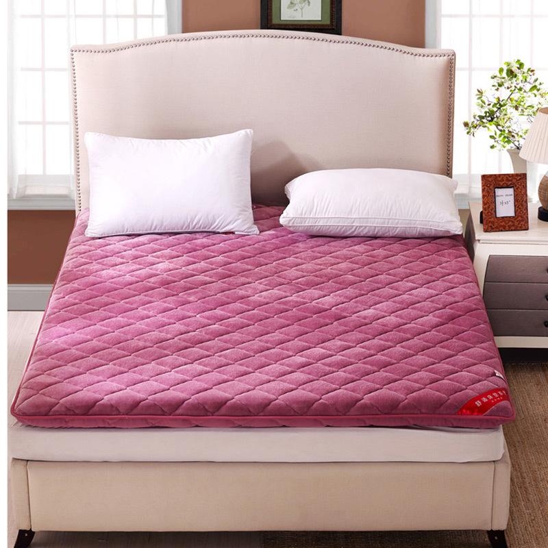 Thị trường chất lượng sản phẩm Giường nệm nhung dày mat chiếu mat là ký túc xá sinh viên đơn đôi 1,5