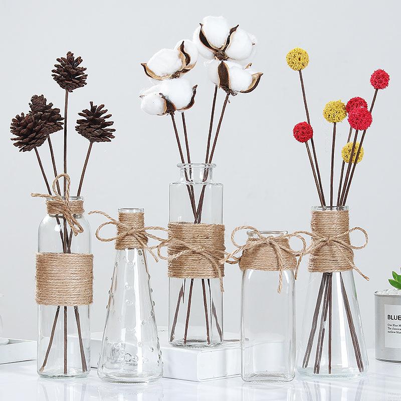 YOUSHANG Bình bông Sáng tạo bình thủy tinh Bắc Âu trang trí hoa châu Âu trong suốt văn hóa nước hoa