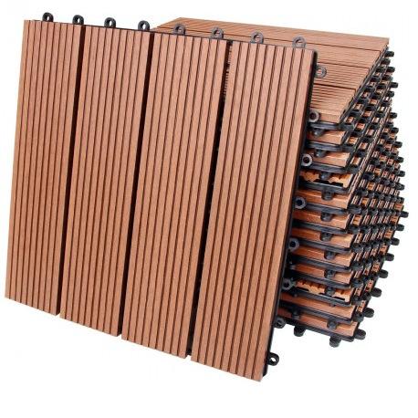 SYWPC Ván sàn Gỗ nhựa tự làm sàn nhựa gỗ ngoài trời sàn khảm ban công sân thượng phòng tắm vườn wpc