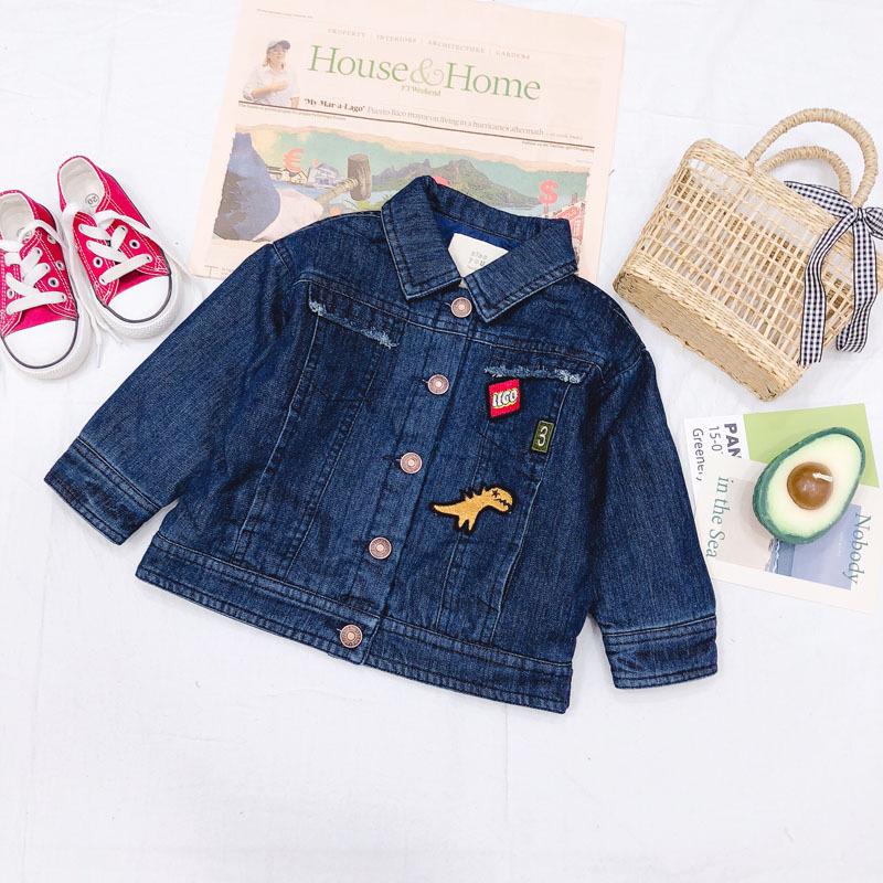 XYD18218 Trang phục Jean trẻ em Quần áo cotton trẻ em, bé trai mùa xuân mới, quần áo trẻ em Hàn Quốc