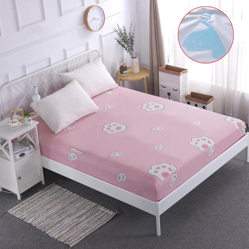 MLSTY Drap giường Chống thấm nước tiểu cách nhiệt thở ra giường trải giường đơn mảnh trượt 1,8m gạo