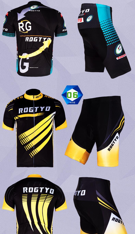 Trang phục Đua xe đạp : áo thun tay ngắn co giãn .