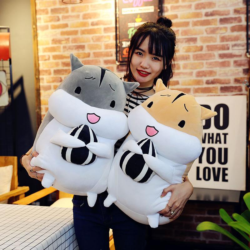 RONGXIAOMEI Búp bê vải Hamster gối đồ chơi sang trọng dễ thương sáng tạo vải mềm búp bê cô gái trái
