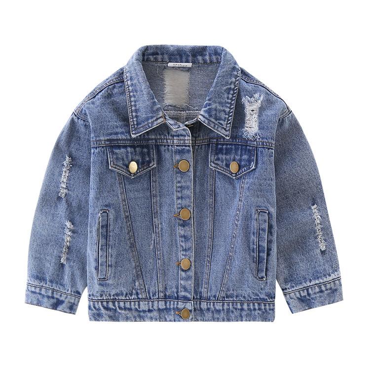 XIDUTONG Trang phục Jean trẻ em Mùa xuân quần áo trẻ em mới trong quần áo trẻ em denim trẻ em giặt c