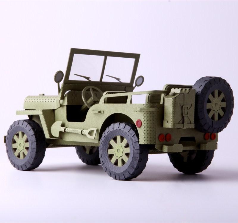 MANOIN Mô hình xe Sceep giấy jeep lắp ráp hướng dẫn sử dụng mô hình xe 3D quà tặng sáng tạo trẻ em n