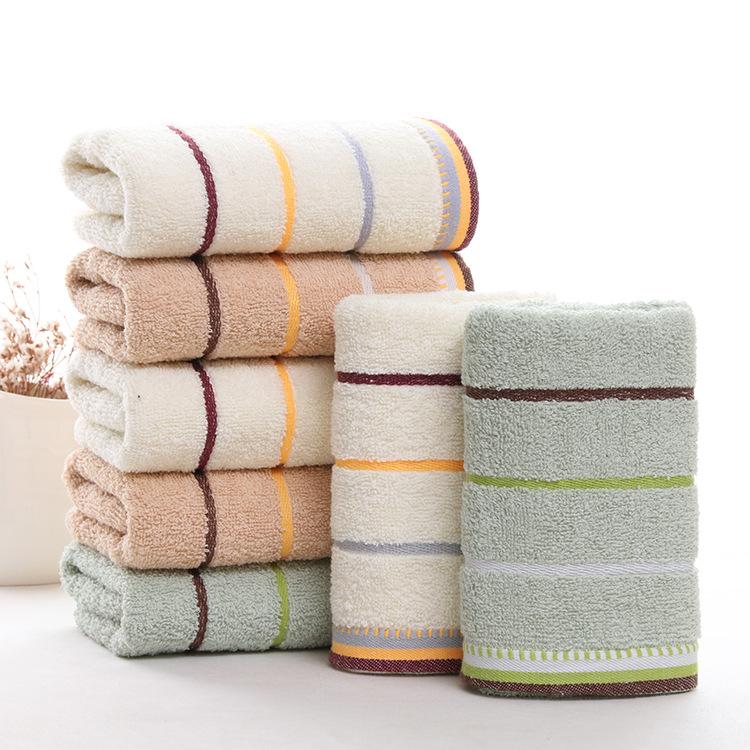 FEIFEI Khăn lông Gaoyang khăn bán buôn cotton mới thấm nước màu đồng bằng ba màu quà tặng tùy chỉnh