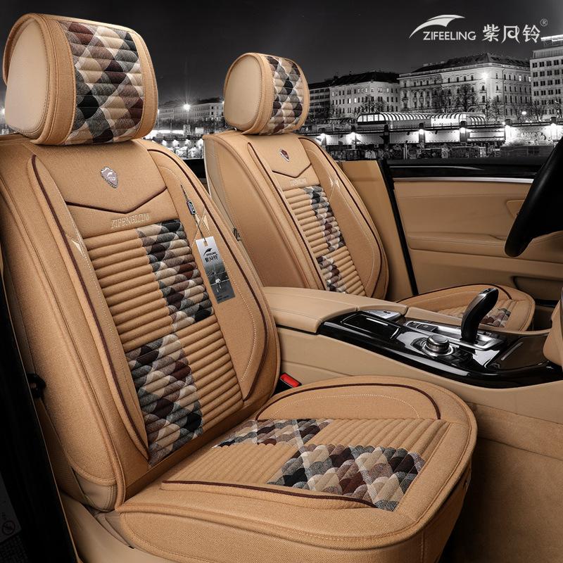 Drap bọc ghế xe hơi Đệm ghế xe hơi bốn mùa phổ quát lanh xe bọc ghế mùa đông xe cung cấp tất cả bao