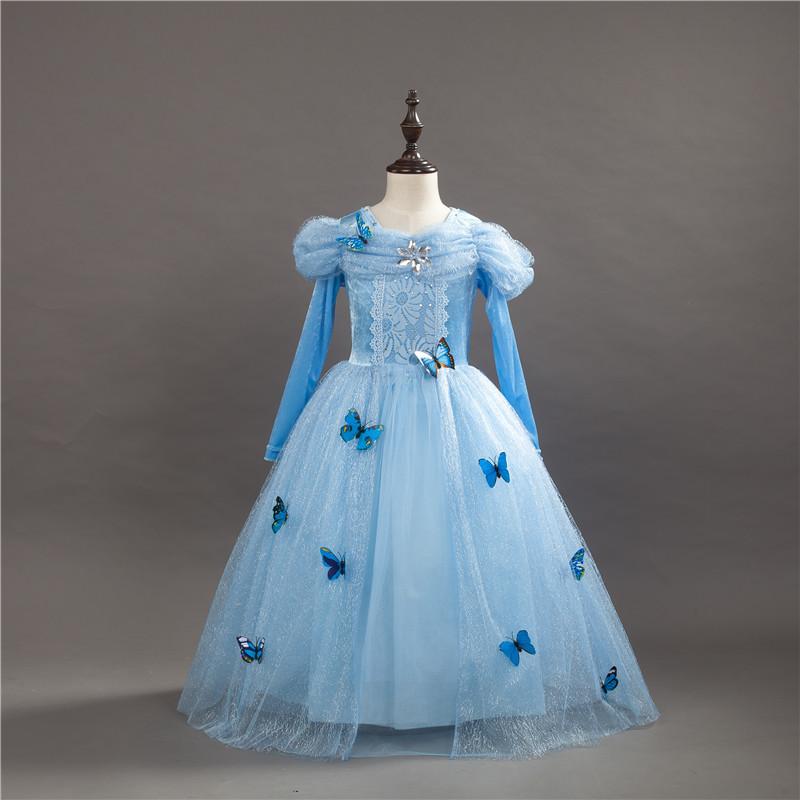 BIBEI Trang phục dạ hôi trẻ em Halloween Cinderella dress mùa thu cổ tích cô gái váy váy công chúa v