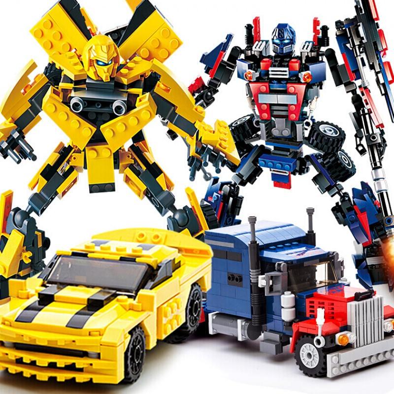 Khối cấu trúc đồ chơi lego robot lắp ráp Tranformer ong tương thích với ba người con trai 3-6-10 trò