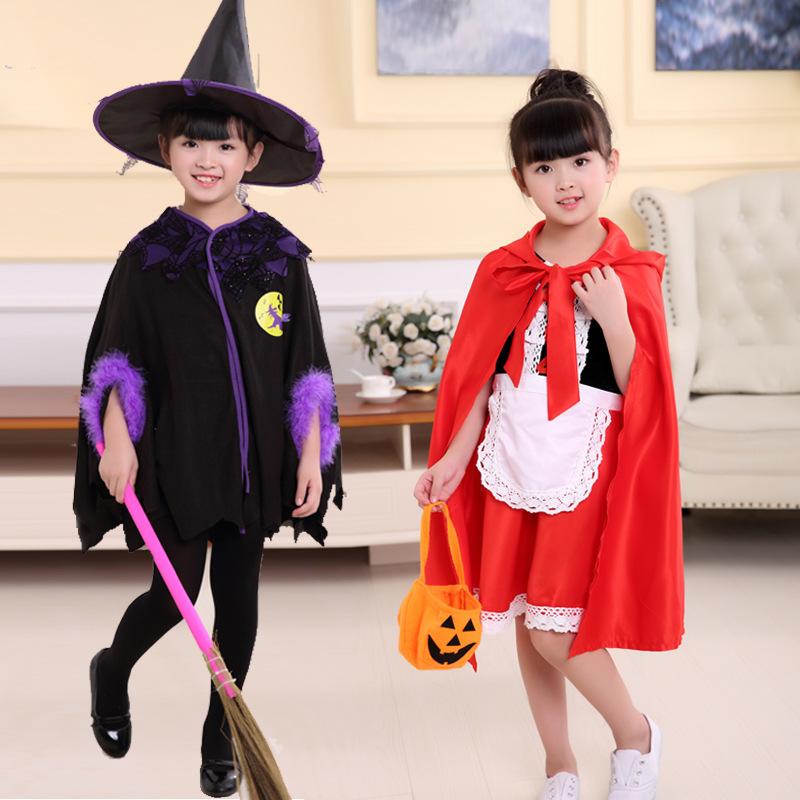 HZBY Áo choàng trẻ em mới cosplay áo choàng mũ phù thủy Batman trang phục Halloween Công chúa nhỏ qu