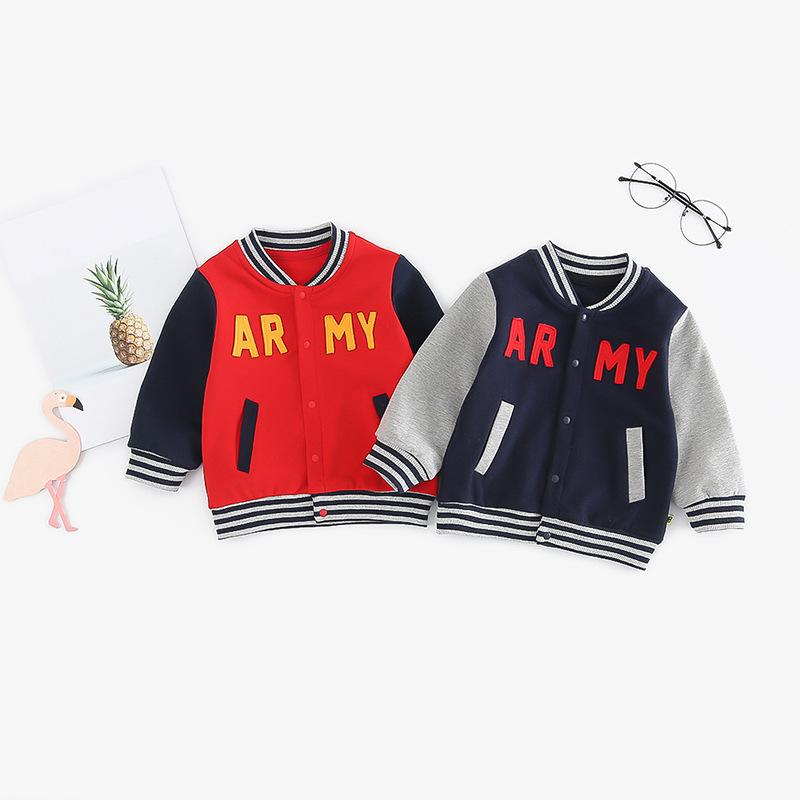 COMEZOO Áo khoác trẻ em 2019 mới cho bé trai xuân hè cho bé ra khỏi áo sơ mi trẻ em có khóa mở mặc g