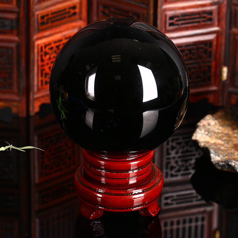 Thủ công mỹ nghệ kiểu  bóng pha lê Obsidian Nội thất văn phòng