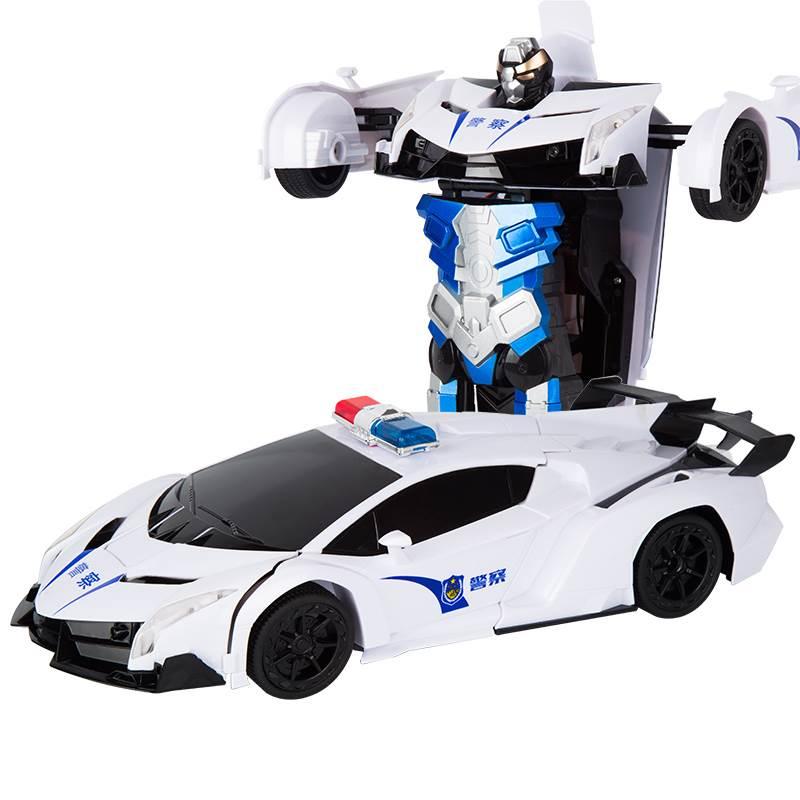 Xe trống lắc bé 6 tuổi sạc dung nạp ngã trẻ em chơi xe đồ chơi robot điều khiển từ xa có thể biến dạ