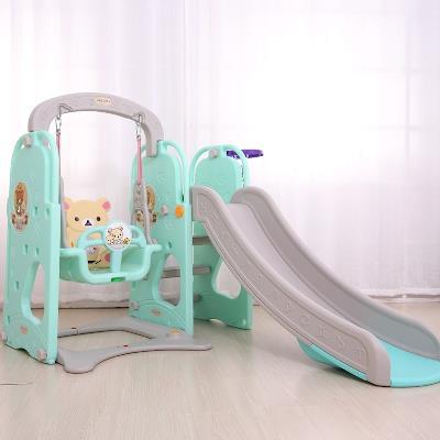 Cầu trượt kèm xích đu cho Trẻ trong nhà và bên ngoài có thể tháo rời .